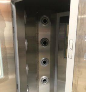 vue intérieure d'une douche à air
